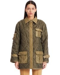 Ganni Quilted Nylon Jacket - Multicolor