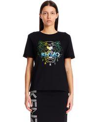 KENZO Black Cotton Logo T-shirt
