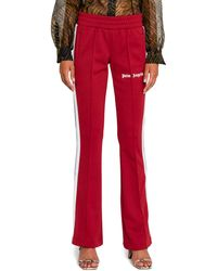 Palm Angels Bordeaux Triacetate Trousers - Red