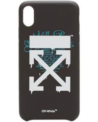 Off-White c/o Virgil Abloh Iphone Xs Max Dripping Cover - Black