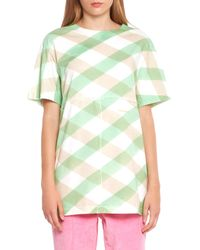 Eckhaus Latta Lattice Check Longline T-shirt - Green