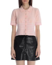 House Of Sunny Short-sleeve Sweater - Pink