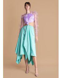 FRUCHE Idowu Feather Dress - Blue