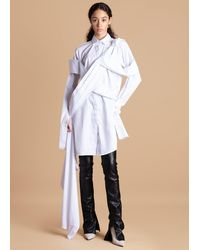 FRUCHE White Osagie Shirt Dress