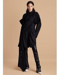FRUCHE Black Osagie Shirt Dress