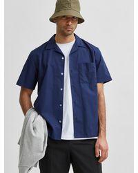 SELECTED Hemd 'Cuba' - Blau