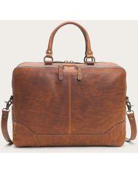 Frye Logan Leather Work Bag - Brown