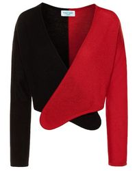 THE GUESTLIST Norma Cashmere Wrap Cardigan - Red