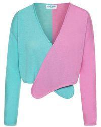 THE GUESTLIST Norma Cashmere Wrap Cardigan - Multicolour