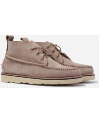 G.H.BASS Ranger Wedge Mid Suede Boots - Natural