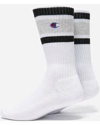Champion Stripe Socks - White