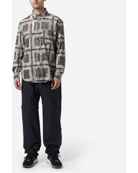 FRIZMWORKS Tie Dyed Bandana Shirt - Black
