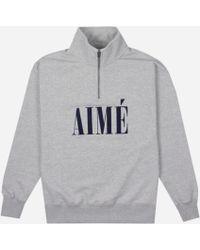 Aimé Leon Dore Aime Quarter Zip Pullover - Grey