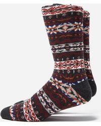 Anonymous Ism Fairisle Crew Socks - Multicolor