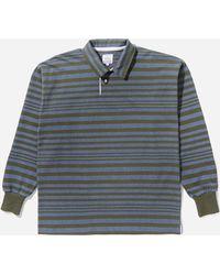 Garbstore Stripe Rugby Shirt - Blue