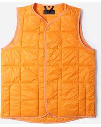 Lavenham 4 Inch Horizontal Heath Gilet - Orange