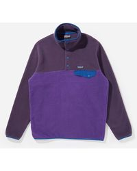 Patagonia Lightweight Synch Snap-t Pullover - Purple