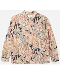 YMC Floral Feathers Shirt - Multicolour