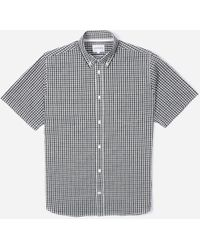 Norse Projects Osvald Gingham Short Sleeve Shirt - Gray