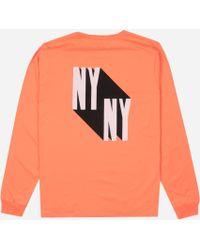 Saturdays NYC M21929ls04 Ny Shadow L/s T - Pink