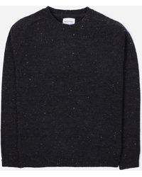 Norse Projects Viggo Neps Crew Knit - Blue