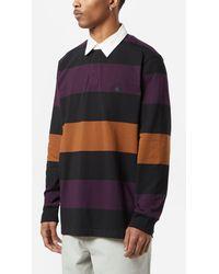 Carhartt WIP Hansen Long Sleeve Rugby Polo - Black