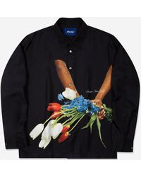 AWAKE NY Bouquet Silk Shirt - Black
