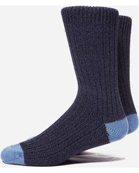 Universal Works Simple Socks - Blue
