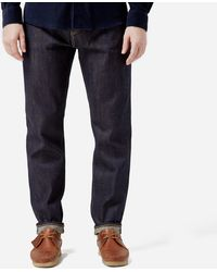 Edwin Ed45 Tpered Rnbw Selv - Blue