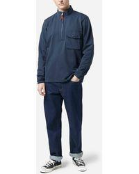 Albam Quarter Zip Tactical Sweatshirt - Blue