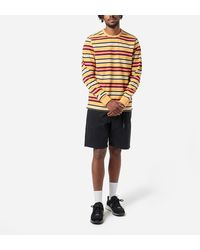 Pop Trading Company Striped Long Sleeved T-shirt - Multicolor