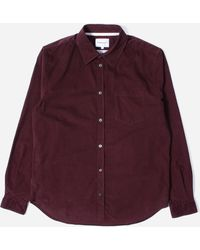Norse Projects Osvald Corduroy Shirt - Purple