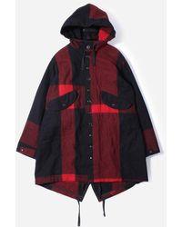 Engineered Garments Big Plaid Wool Melton Highland Parka - Multicolour