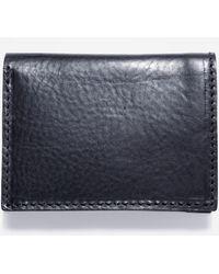 Nudie Jeans Hagdahl Saddle Leather Wallet - Blue