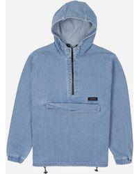 Edwin Hooded Popover Jacket - Blue