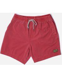 Deus Ex Machina Sandbar Solid Garment Dye Shorts - Red