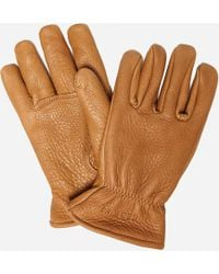 Red Wing Buckskin Leather Gloves - Brown