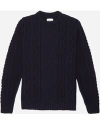 Norse Projects - Arild Cable Knit - Lyst