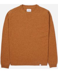 Norse Projects Sigfred Lambswool Knitted Jumper - Brown