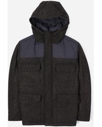 Norse Projects Harris Tweed Nunk Jacket - Black