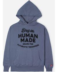 Human Made Logo Hoodie - Blue