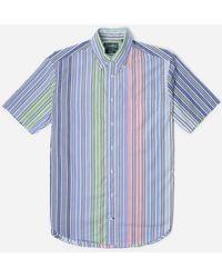 Gitman Brothers Vintage Vintage Bd Ss Shirt - Blue