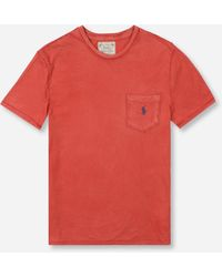 Polo Ralph Lauren Slub Pocket Short Sleeve T-shirt - Red
