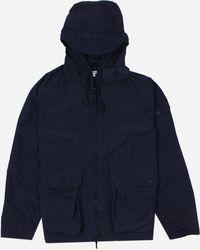 Engineered Garments Atlantic Coated Nylon Parka Jacket - Blue