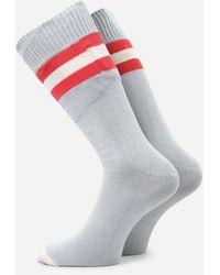 Universal Works Sport Stripe Socks - Grey