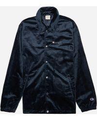 01a9698a7 Velour Coach Jacket - Blue