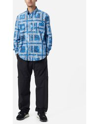 FRIZMWORKS Tie Dyed Bandana Shirt - Blue