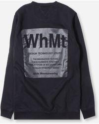 White Mountaineering Logo Printed Sweatshirt - Black