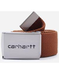 Carhartt WIP Chrome Clip Belt - Brown