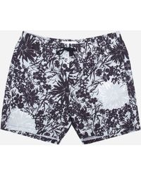 Norse Projects Hauge Flower Print Swim Shorts - Blue